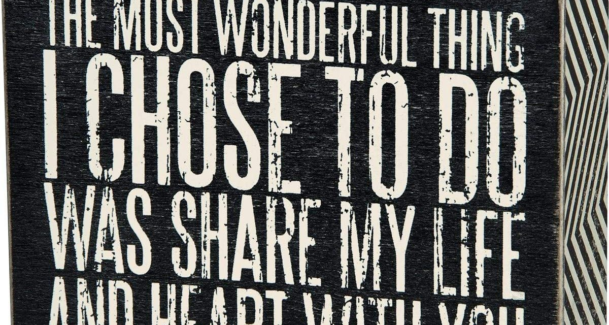 Primitives by Kathy Box Sign, Share My Life, 4 by 5-Inch